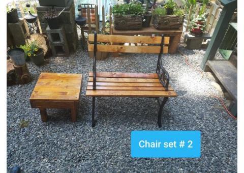 2sets Refurbished Park / Camping Bench Table set